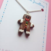 Image of Gingerbread Man Necklace