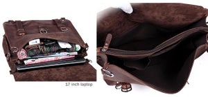 Image of Men's Extra Large Handmade Vintage Leather Travel Bag / Satchel - Backpack / Messenger (N53L)