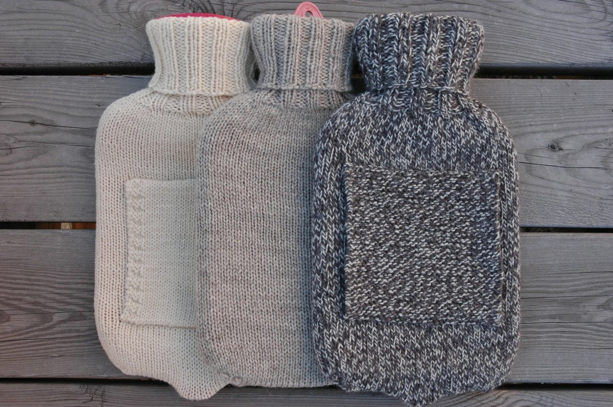 Easy Hot Water Bottle Knitting Pattern : Garment House   Hot Water Bottle Cover Pattern