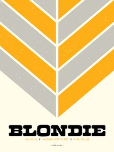 Image of Blondie - Washington DC '13 (Yellow)
