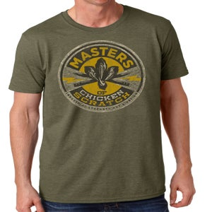 Image of MOCS Logo shirt Military Green Heather (Pre Order)