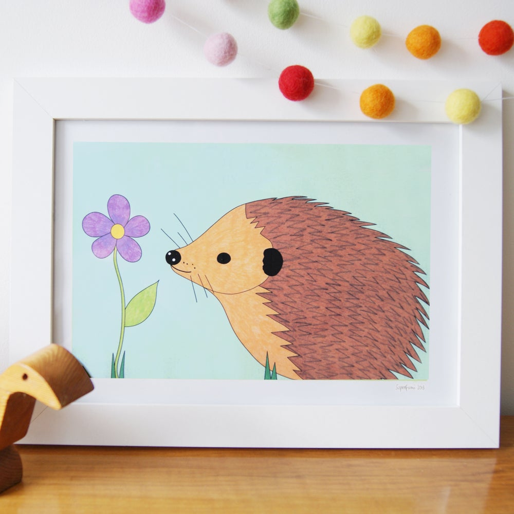 Image of Happy Hedgehog Art Print