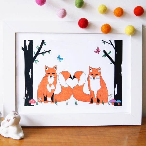 Image of Love Foxes Art Print