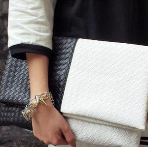 Image of Monochrome Luxe Clutch