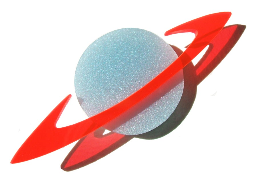 Image of Saturn brooch