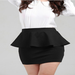 Image of Cotton Peplum Mini Skirt