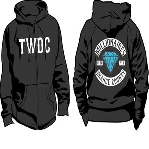 "Image of Millionaires ""TWDC OC Club"" Zip-Up HOODIE"