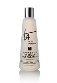 Image of T4 Alpha & Beta Hydroxy Face Cleanser-8 oz. For All Skin Types