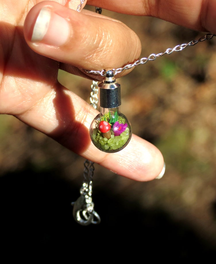 Image of Ecosphere Necklace, Springtime Pendant Necklace, by Hieropice