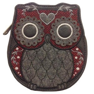 Image of Felt Owl Coin Purse by Loungefly