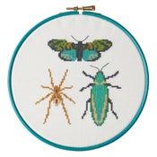 Image of Emerald Bug Trio cross-stitch PDF pattern