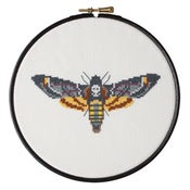 Image of Yellow Moth cross-stitch PDF pattern