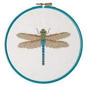 Image of Blue Dragonfly cross-stitch PDF pattern