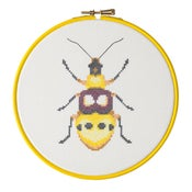Image of Yellow Beetle cross-stitch PDF pattern