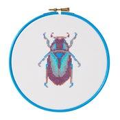 Image of Purple Beetle cross-stitch PDF pattern