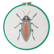 Image of Red Beetle cross-stitch PDF pattern