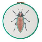 Image of Red Beetle cross-stitch PDF pattern