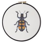 Image of Orange Beetle cross-stitch PDF pattern