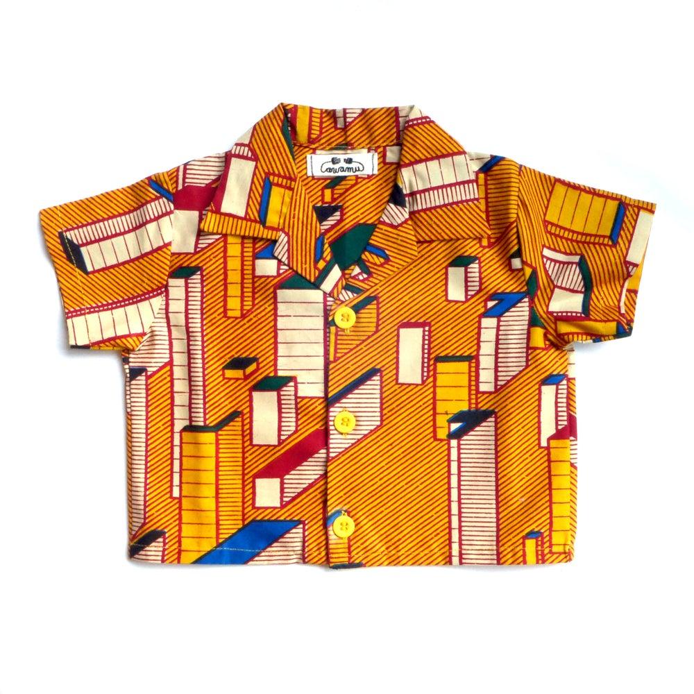 Image of 'Block' boys 100% cotton shirt