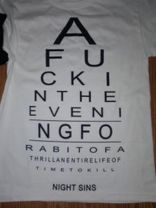 """Image of """"A fuck in the evening"""" Shirt"""