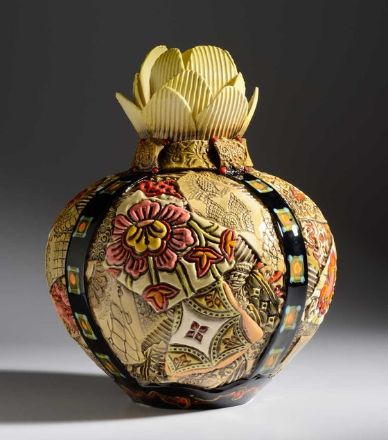 Image of Artichoke ceramic Vessel