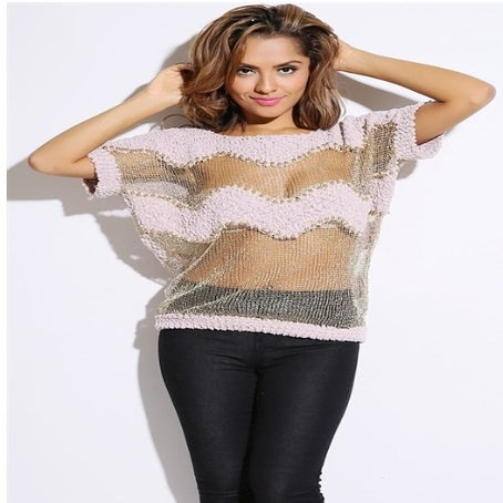 Lavashti — Bejeweled knit sweater top