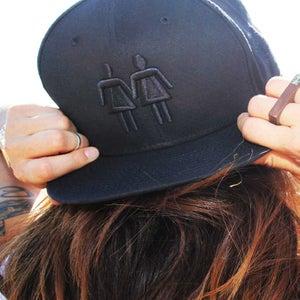 Image of Black on Black Snapback