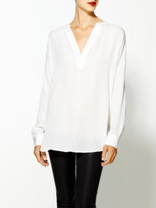 Image of VINCE loose stretch - silk blouse
