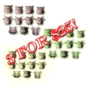 Image of 3 sets of Pigs vs Cows for $20!