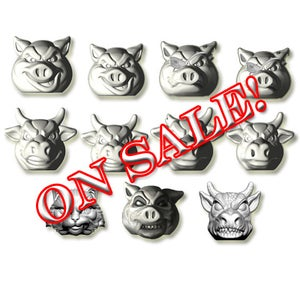 Image of FULL SET - Pigs vs Cows - GRAY