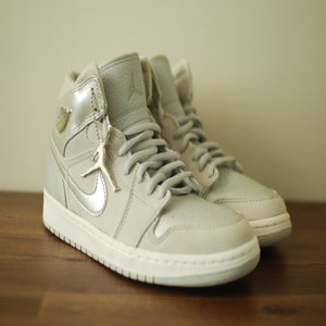 Image of Air Jordan 1 Retro+ Neutral Grey Metallic Silver 2001