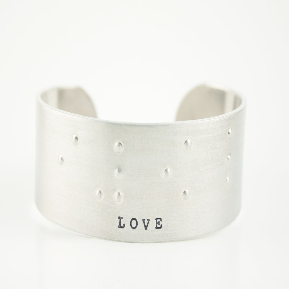 "Image of NEW! Braille ""LOVE"" bangle bracelet"