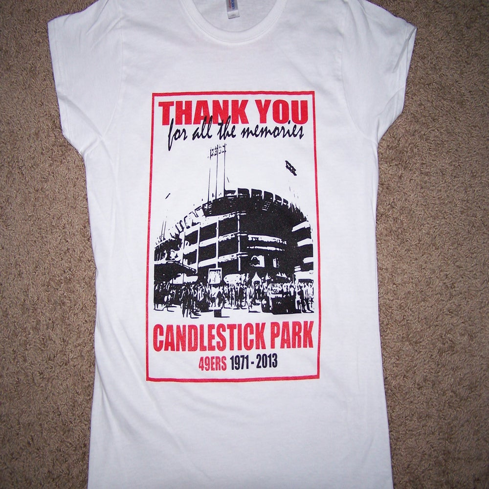 Image of Candlestick Park Memorial t-shirt Womens Ladies fitted Fast Shipping
