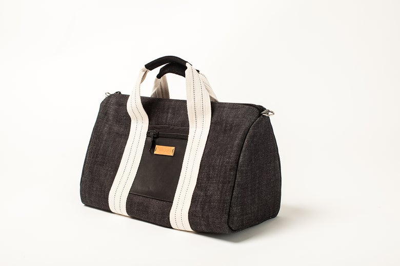 Image of Weekender denim bag