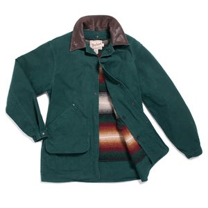 Image of WOOLRICH COTTON COAT WITH DETACHABLE BLANKET LINING