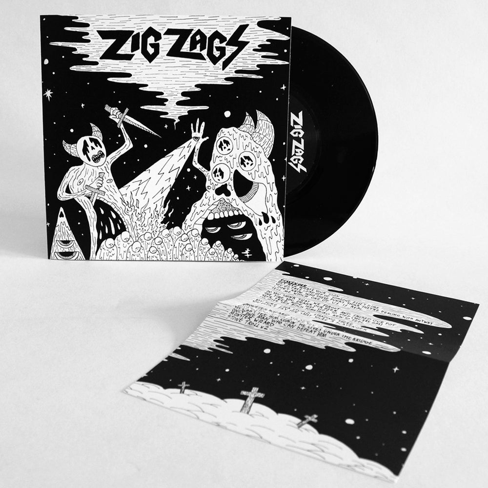 "Image of ZIG ZAGS - 'Scavenger / Monster Wizard' 7"" Vinyl"