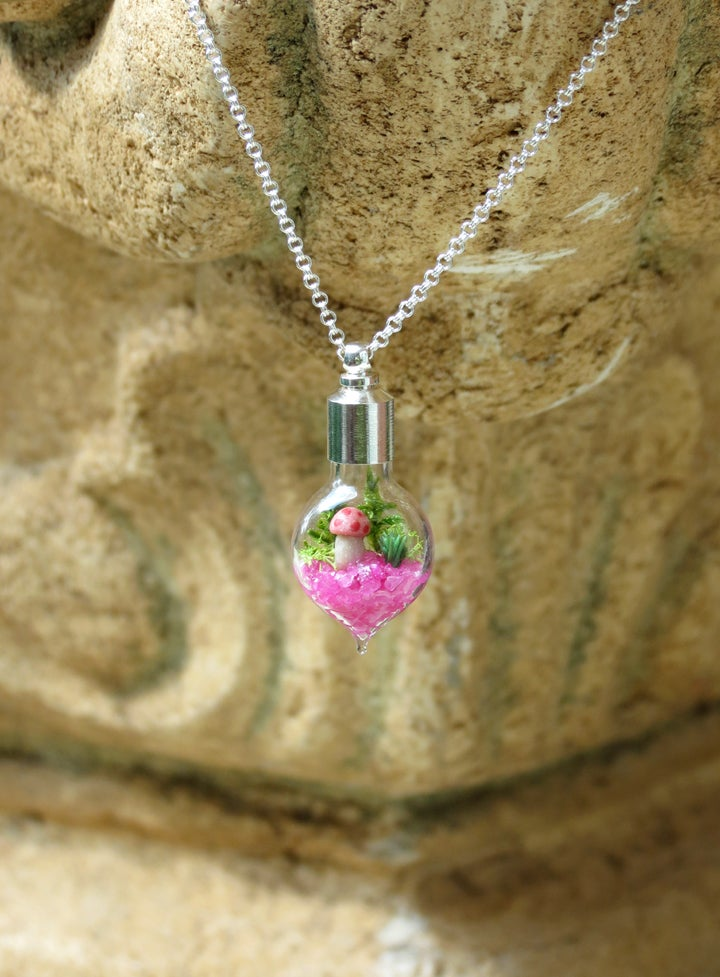 Image of Pink Heart Necklace for Charity, Susan G. Komen Necklace