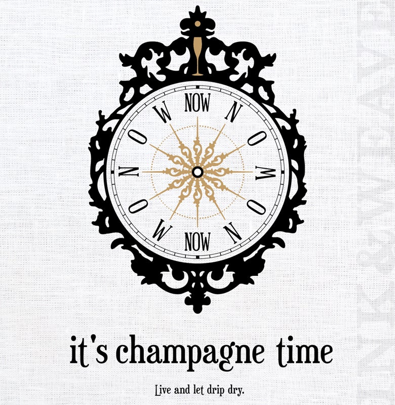Image of it's champagne time