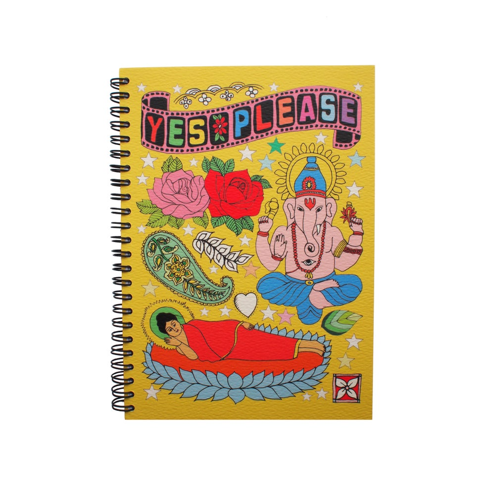 Image of Tattoo Notebooks, Ganesh, Guitar, Dino, Mermaid & Cat Designs