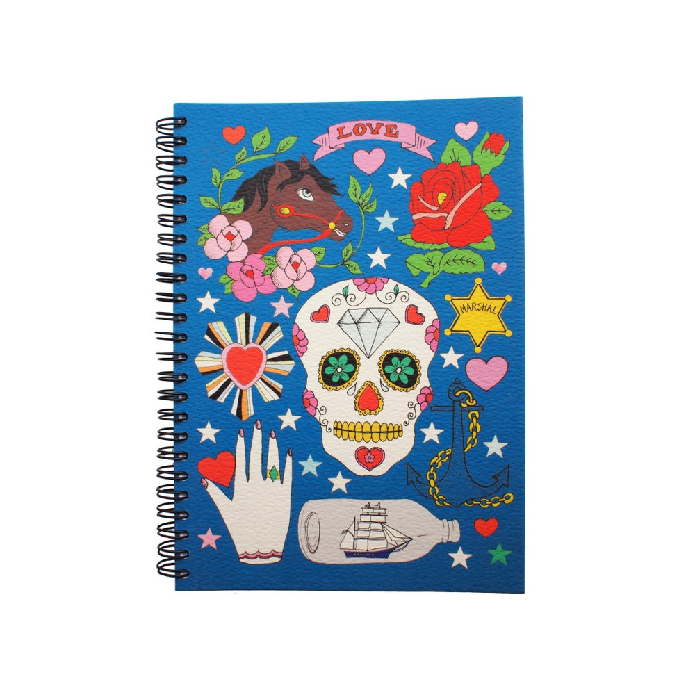 Image of Tattoo Notebooks, Skull, Geisha, Russian Doll, Unicorn
