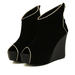 Image of Peep Toe Wedge Booties