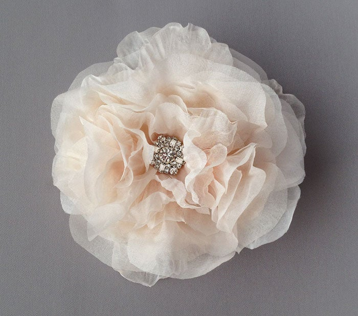 Image of Star Blush Silk Chiffon Flower Fascinator