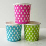 Image of Polka Dot Paper Ice Cream Treat Cups