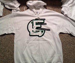 Image of Liquid Fiction Records Zip Up White Hoodie Limited Edition /25