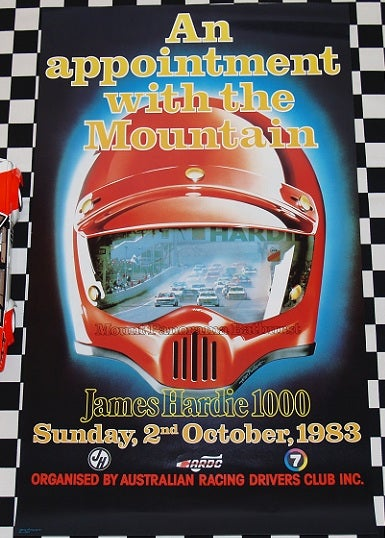 Image of ORIGINAL 1983 Bathurst poster. Brock Wins.