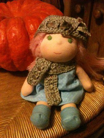 Image of bonnet et écharpe liberty