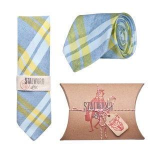Image of Yellow Blue Chambray Plaid