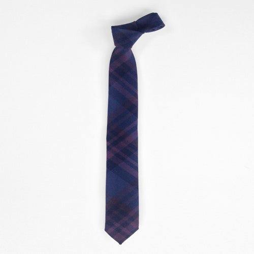 Image of plum + navy pendleton wool tie