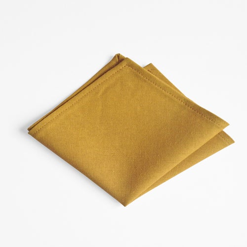 Image of mustard linen square