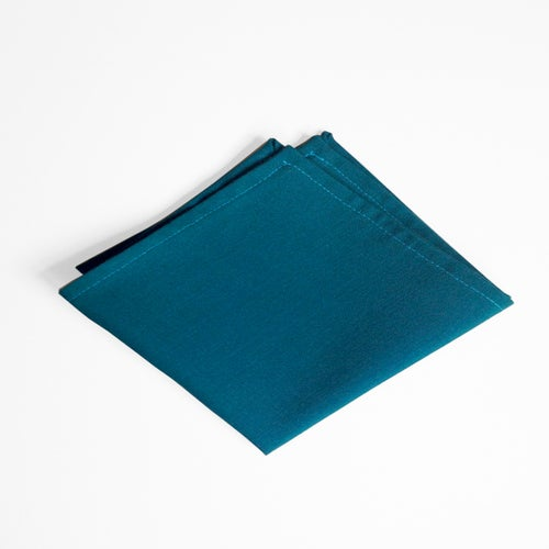 Image of dark teal linen square